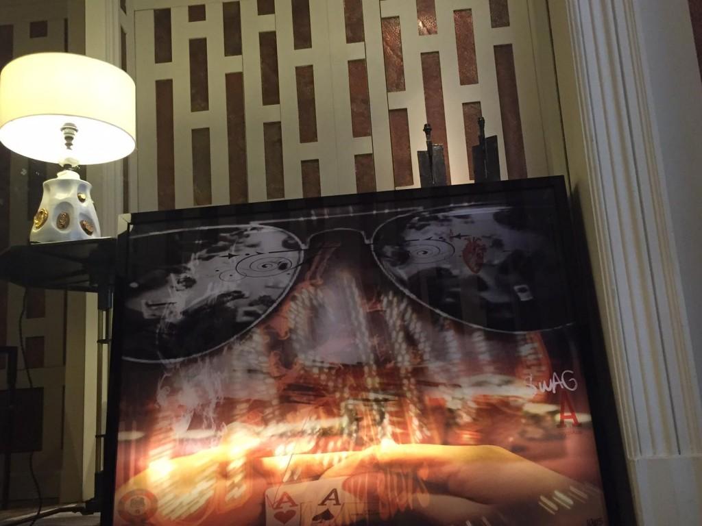 GLASSES - 60X80- Tableau lumineux- tirage plexi - cadre plexi noir